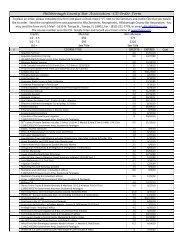 Hillsborough County Bar Association –CD Order Form