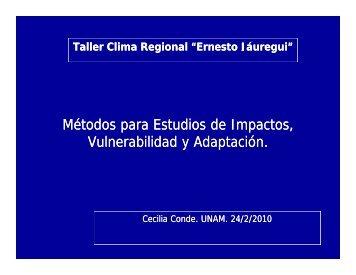 Métodos para Estudios de Impactos, Vulnerabilidad y ... - UNAM