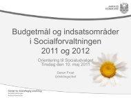 Socialforvaltningens budgetmål 2011 og 2012 - Velkommen til ...