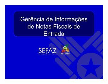 Gerência de Informações de Notas Fiscais de Entrada - Sefaz