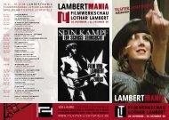 Lambertmania Flyer - Tilsiter Lichtspiele