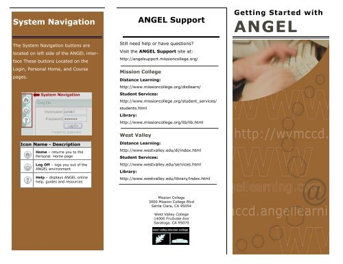 angel learning mission college