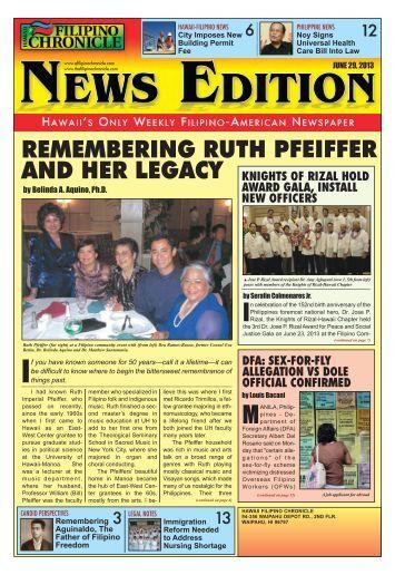 PHiliPPiNe NeWS - Hawaii-Filipino Chronicle