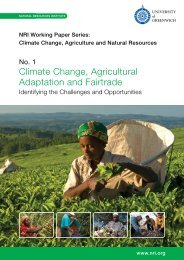 Climate Change, Agricultural Adaptation and Fairtrade - 2010 (4MB