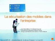 La sécurisation des mobiles dans l'entreprise - Cert-IST