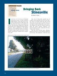 Bringing Back Stinesville IN - NR Hiller Design