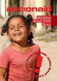 Relatório Anual 2007 Brasil - ActionAid Brasil