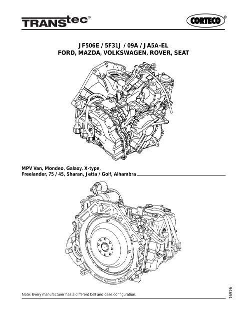 Ford Jf506e Mazda 5f31j Ja5a El Volkswagen 09a Transtec