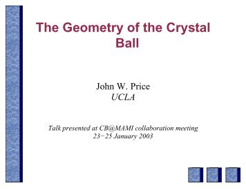 Crystal Ball Geometry and Simulation - A2 Mainz