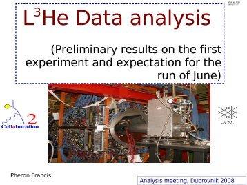 L3He Data analysis - A2 Mainz