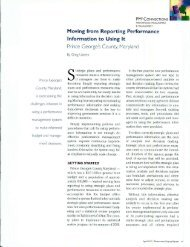 Moving from Reporting Performance Information to Using It ... - ppmrn