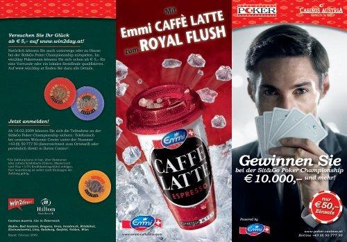 Mit Emmi CAFFÈ LATTE zum ROYAL FLUSH - win2day