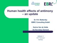 Human health effects of antimony – an update