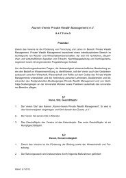 Satzung - Alumni-Verein Private Wealth Management eV 2009