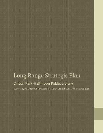 Long Range Strategic Plan - Clifton Park-Halfmoon Public Library