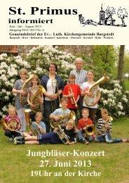 Gemeindebrief Juni-Juli-August 2013 - Kirchengemeinde Bargstedt