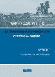 Appendix C - Cultural Heritage Impact Assessment - Peabody Energy