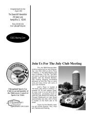 Join Us For The July Club Meeting - Chicagoland Sports Car Club