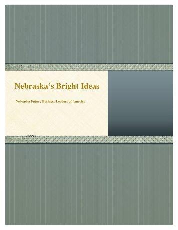 Nebraska's Bright Ideas - Nebraska FBLA