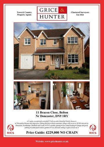 Price Guide: £229000 NO CHAIN 11 Bracon Close ... - Grice & Hunter