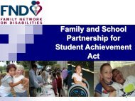 Family and School Partnership for Student Achievement Act