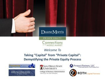 """Welcome To Taking """"Capital"""" from """"Private Capital"""": Demystifying ..."""