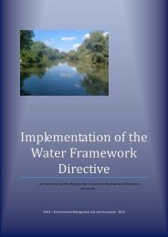 Implementation of the Water Framework Directive