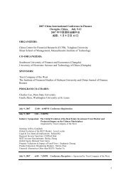 1 2007 China International Conference in Finance ... - 清华大学