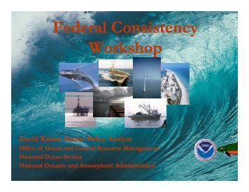 Federal Consistency Workshop - Delaware Department of Natural ...