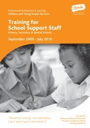 Training for All Support Staff - Bromley Partnerships