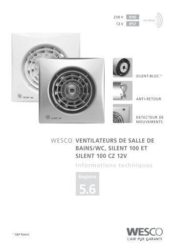Ventilation des salles de bains wc cuisines helios for Extracteur pour salle de bain et wc