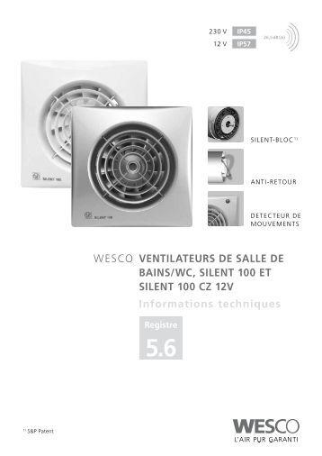 Ventilation des salles de bains wc cuisines helios - Extracteur pour salle de bain et wc ...