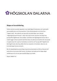 Skapa en kursvärdering - IKT-pedagogiskt centrum - Högskolan ...