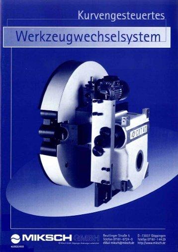 Werkzeugwechsler CUT - Miksch GmbH