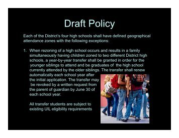 Draft Policy - Klein Independent School District