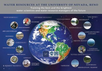 Water at UNR - College of Agriculture, Biotechnology and Natural ...