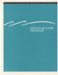 STATE OF THE SOUND 1986 REPORT - Puget Sound Institute