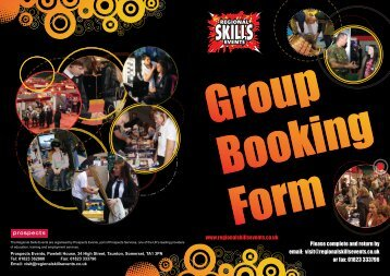 to download the booking form - North East Skills