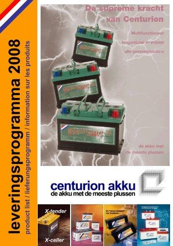 leveringsprogramma 2008 product list ... - Centurion Akku