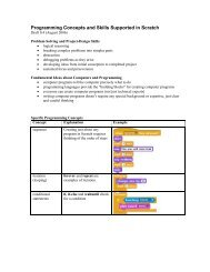 Programming Concepts and Skills Supported in Scratch