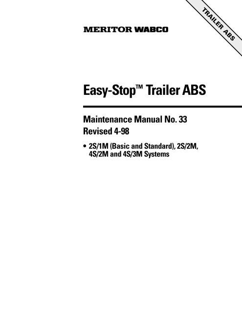 meritor trailer abs flash codes