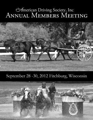Welcome Carriage Drivers! - American Morgan Horse Association