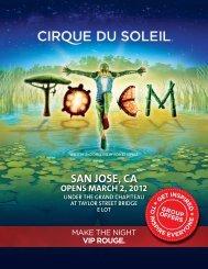 SAN JOSE, CA - Cirque du Soleil