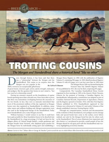 Trotting Cousins - American Morgan Horse Association