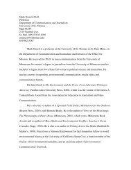 Mark Neuzil, Ph.D. Professor Department of Communication and ...