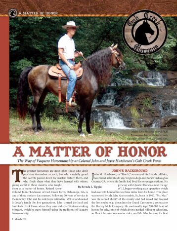 John's Background - American Morgan Horse Association