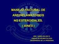 Manejo Racional de Anti Inflamatorios No Esteroidales (AINES)