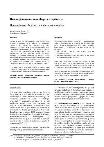 HEMANGIOMAS - Revista Medicina