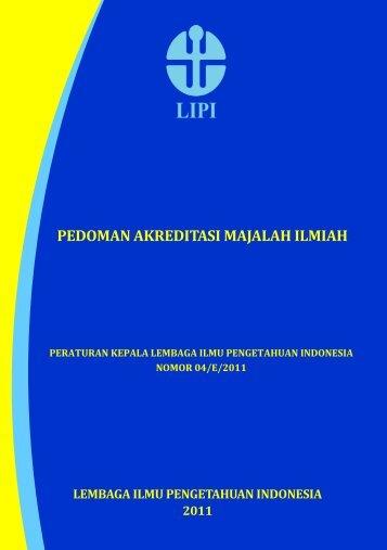 Pedoman Akreditasi Majalah Ilmiah LIPI