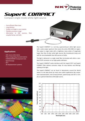 SuperK COMPACT - NKT Photonics